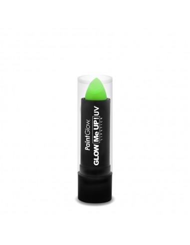 Rouge à lèvre fluorescent vert réactif à la lumière noire UV qui le fait briller dans le noir