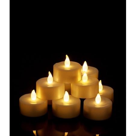 Petit bougie à LED lumière chaude et scintillante, type bougie chauffe plat