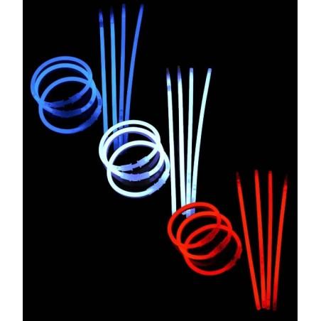 Pack 300 Bracelets Lumineux - Bleu/Blanc/Rouge - tricolore supporter France
