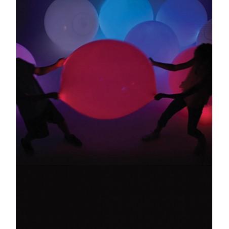 Sachet de grands ballons Lumineux 90cm - LOT de 12 ballons lumineux souple en matière souple et étirable