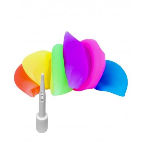 Sachet de grands ballons Lumineux 90cm - LOT de 12 ballons lumineux  en matière souple de plusieurs couleurs