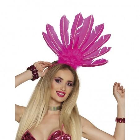 Serre-tête Samba - Rose Fluo