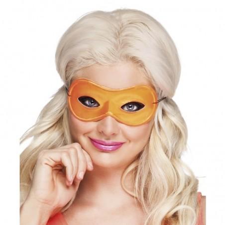 1 Masque Loup Fluo - Couleur orange - Accessoire déguisement carnaval fluo
