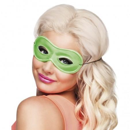 1 Masque Loup Fluo - Couleur vert - Accessoire déguisement carnaval fluo