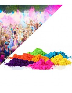 PACK 50 Sachets Poudre Colorée Holi 5 couleurs