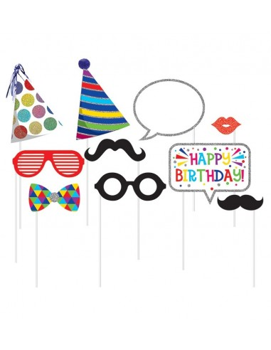 Accessoires Photo Booth Birthday Deluxe