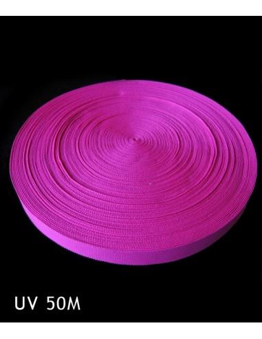 Bande Fluorescente synthétique Rose fluo 50 mètres 25 mm - Décorer, baliser un terrain soirée sport fluo