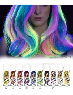 Coloration Fluorescente pour Cheveux en Spray