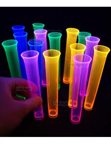 20 shots tubes à essai fluo UV assortis