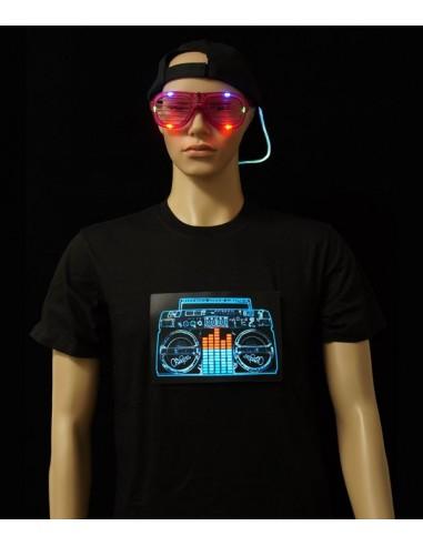 T-shirt lumineux homme Ghetto Blaster