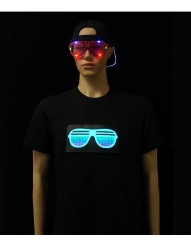T-Shirt Lumineux Modèle Lunettes