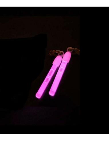 PACK - 200 Paires de boucles d'oreilles Fluorescentes luminesues ROSE