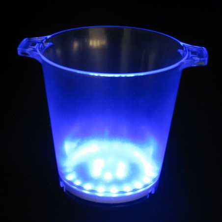 Seau à Glace Lumineux LED Bleu