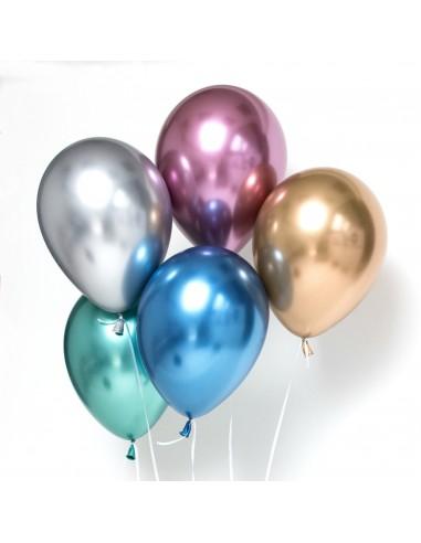 ballons luxe effet chromé qualatex