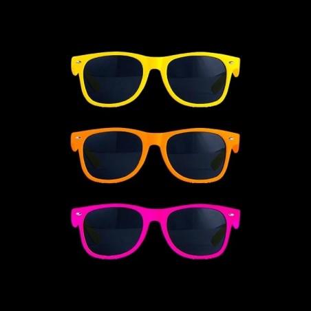 Lot de lunettes fluo de soirée style wayfarer