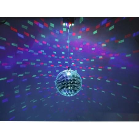 Boule à facettes 20 cm LED motorisée EUROLITE 42109265