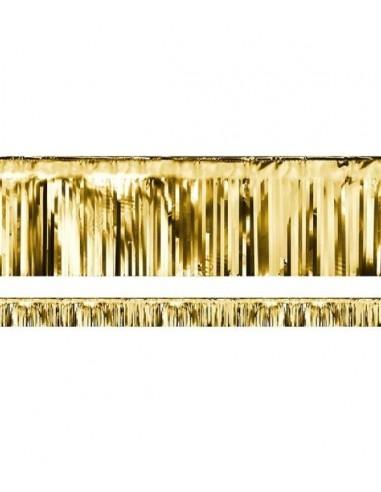 Guirlande Franges Metallique Or 6m