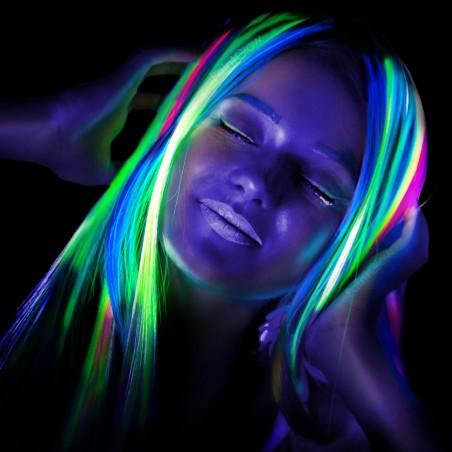 Gel Cheveux Fluorescent UV - Meches fluo