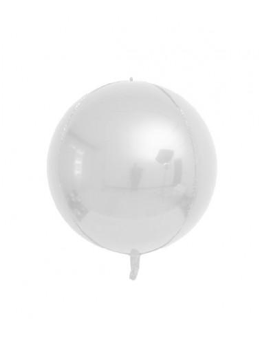 Ballon Rond Brillant 38cm - Gris Satin
