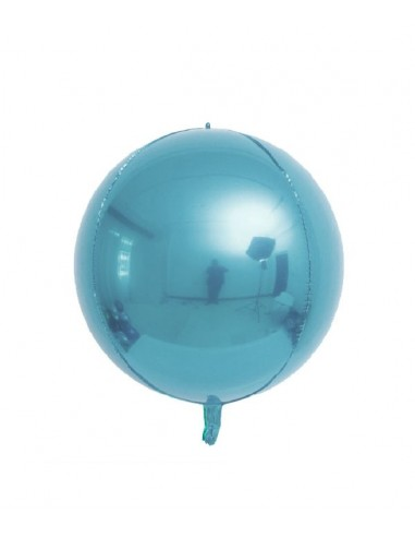 Ballon Rond Brillant 38cm - Bleu Pastel