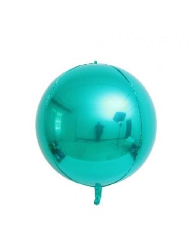 Ballon Rond Brillant 38cm - Bleu Tiffany