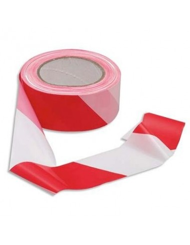 Ruban de signalement rubalise - Rouge et Blanc - 50mm x 100m