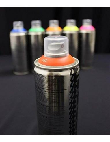 Spray de peinture fluorescente (UV-active) 400ml - 8 couleurs au choix