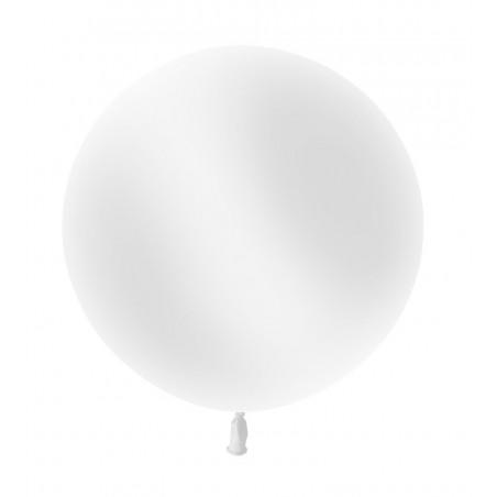 Ballon géant Rond Latex 60cm Blanc
