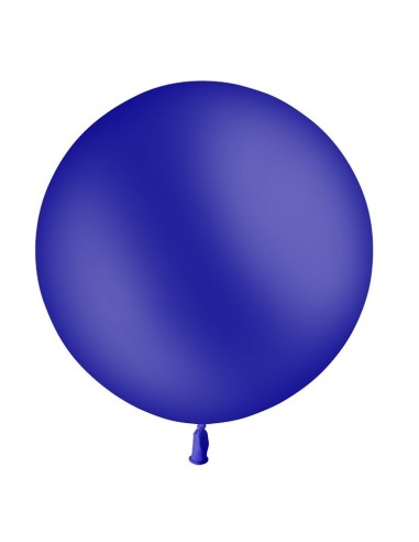 Ballon Rond Latex 60cm BLEU MARINE