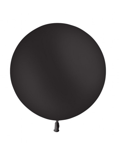 Ballon Rond Latex 60cm NOIR