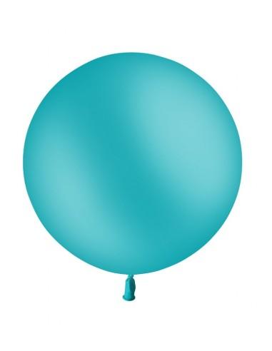 Ballon Rond Latex 60cm Bleu Turquoise