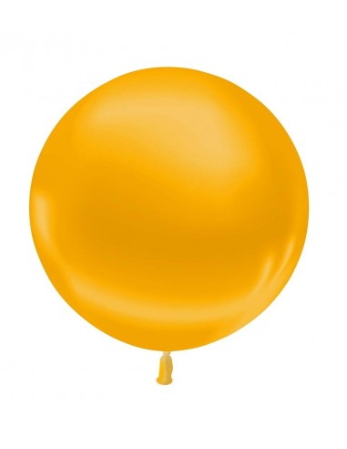 Ballon Rond Latex 60cm Métallisé OR