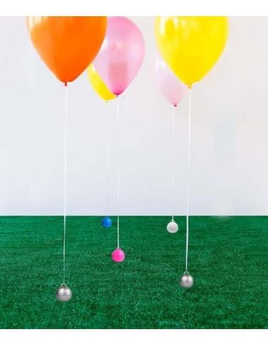 Poids Ballon Helium Bubble - Bleu...