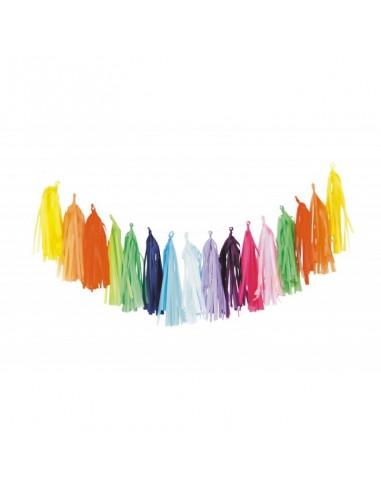 Guirlande de 16 Tassels Multicolore -...