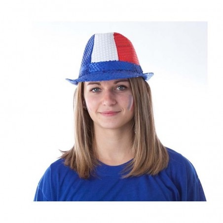 Chapeau Borsalino Sequins - BLEU BLANC ROUGE