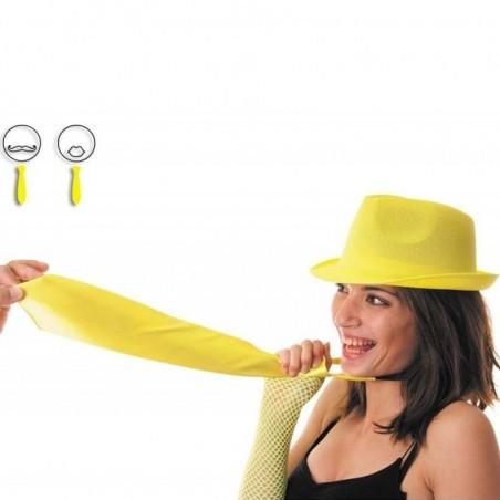Cravate fluo jaune  Soirée disco fluo années 80