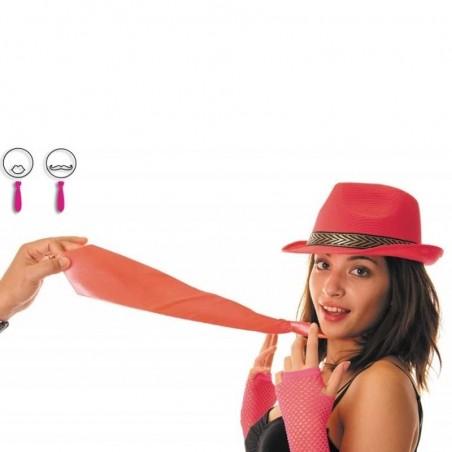 Cravate fluo rose  Soirée disco fluo années 80