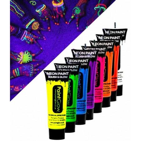 Tube de Maquillage FLUO UV 12ml Corps et visage - Maquillage fluorescent sous lumière noire ultraviolette