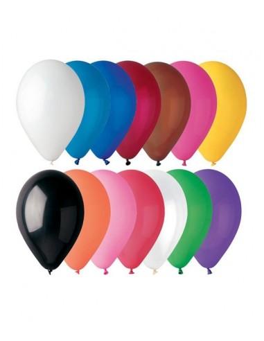 100 Ballons Latex  diam. 28cm ASSORTIS