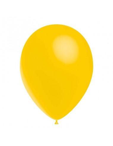 50 Ballons Latex  diam. 28cm Jaune Or