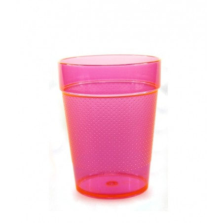 5 Verres Gobelets Fluorescent UV Tumblers 230ml - Rose