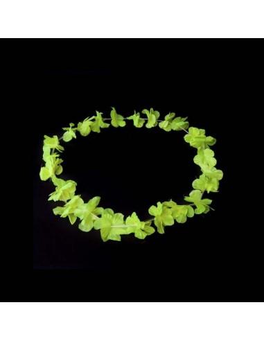 Colliers à Fleurs Hawaïennes - Fluorescent (UV active) Jaune