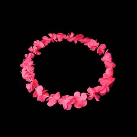 Colliers à Fleurs Hawaïennes - Fluorescent (UV active) Rose