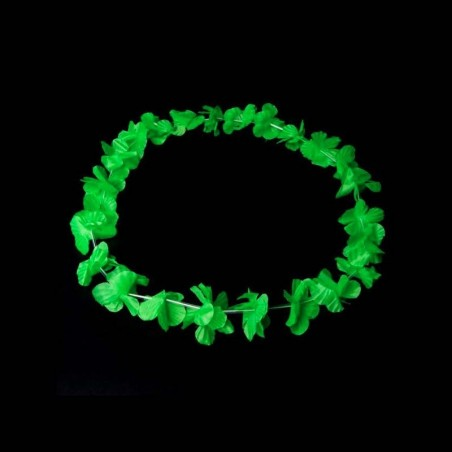Colliers à Fleurs Hawaïennes - Fluorescent (UV active) Vert