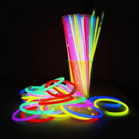 1000 Bracelets Fluorescent Standard Assortis - Pack économique - achat en gros