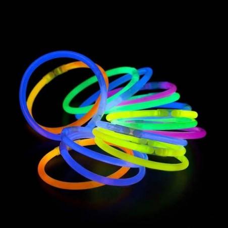 100 Bracelets Lumineux Fluorescent - Standard - Assortis - Vistaglo