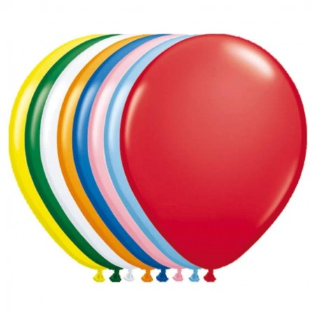 100 Ballons Latex  diam. 30cm ASSORTIS