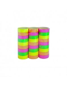 Lot de 18 Serpentins Fluo 4m