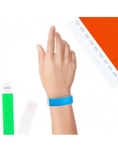 100 Bracelets Evénementiels en Tyvek® - Largeur 19mm - Contrôler vos évènements avec une solution économique et recyclable