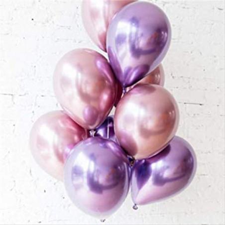 ballons luxe effet chromé qualatex brillant